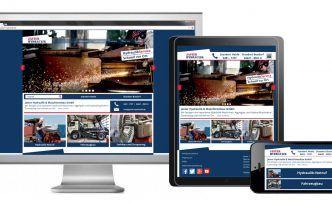 Jaster Hydraulik Mobile Internetseite